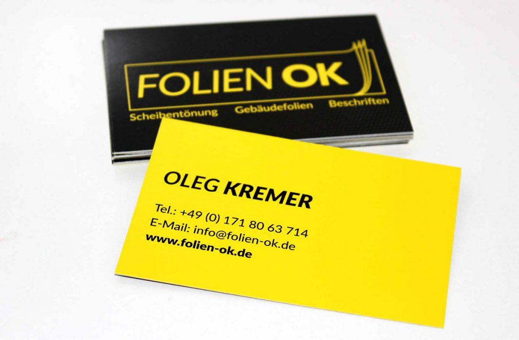 Folien OK Beklebung Bad Reichenhall Visitenkarte