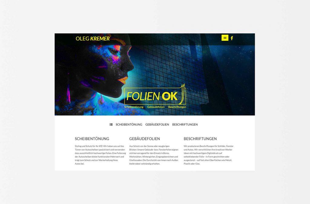Folien OK Beklebung Bad Reichenhall Webseite Internet