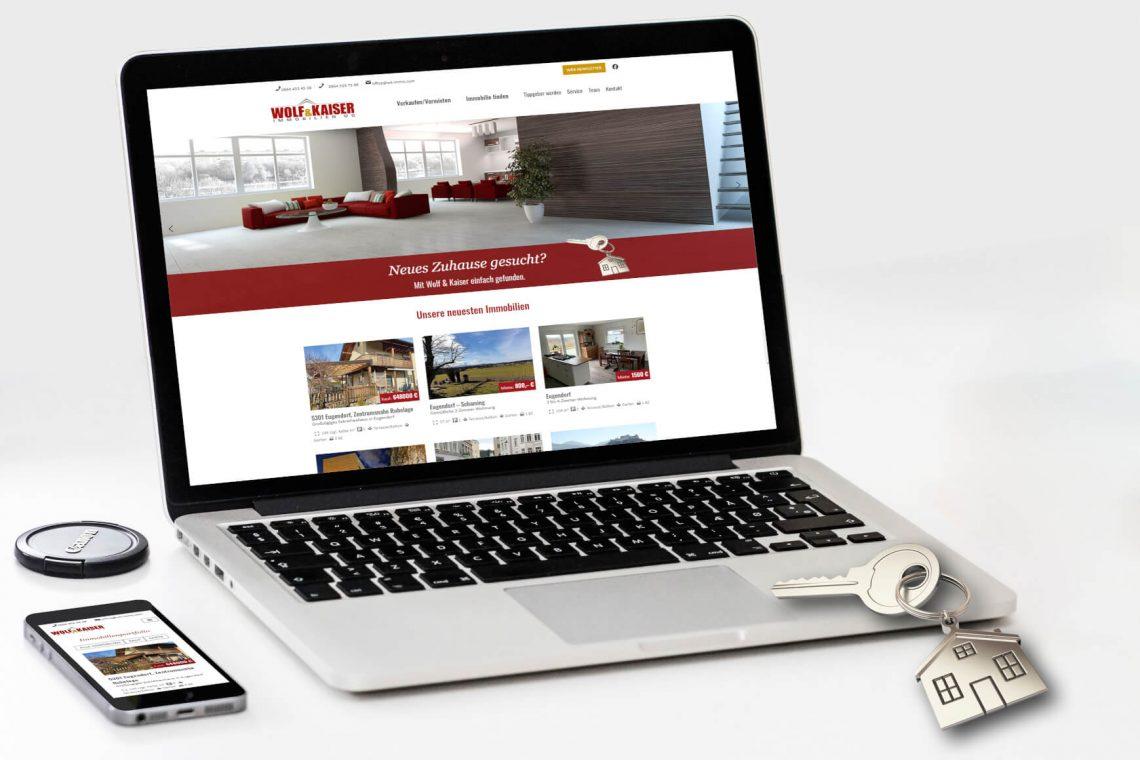 Relaunch Website Wolf & Kaiser Screendesign
