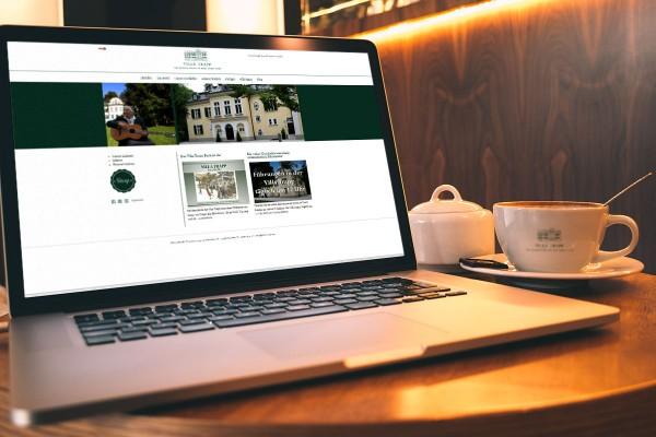 Villa Trapp, Salzburg: Gestaltung der Website